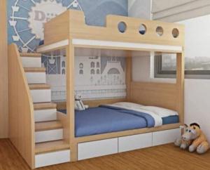 Mẫu giường tầng gỗ MDF - VGT 2